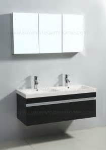 Small 2 Sink Vanity vanity sink 46 in espresso black modern bathroom
