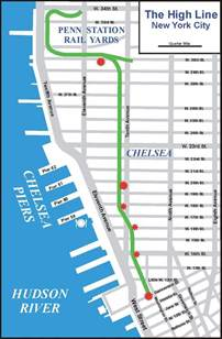 New York High Line Map by The High Line Map Walking The High Line To The Chelsea