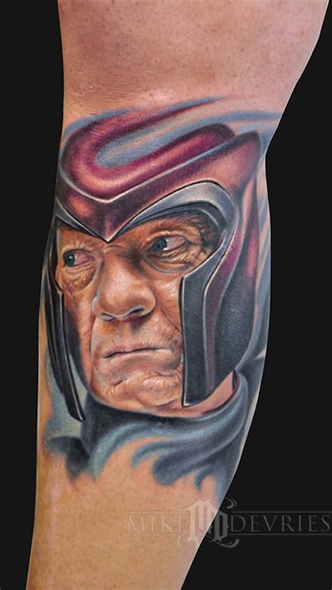 magneto tattoo magneto by mike devries tattoonow