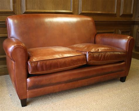 Leather Sofa And Chair by Leather Sofa Siege En Cuire Siege Francais 20th