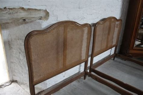 french style single headboards pair of french bergere style single corbielle beds