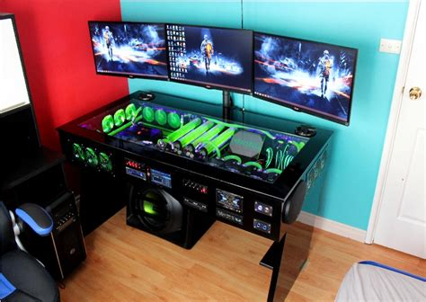 Liquid Cooled Desk by Watercooled Pc Desk Mod With Built In Car Audio System