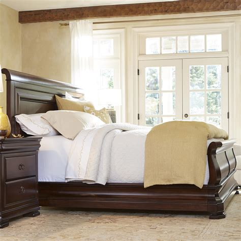 king sleigh headboard king sleigh bed with paneled headboard by universal wolf