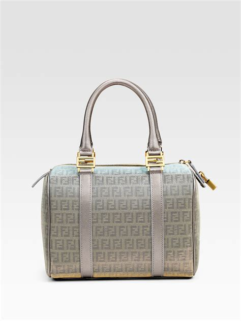 Forever Fendi Satchel by Fendi Forever Baulotto Boston Top Handle Bag In Silver Lyst