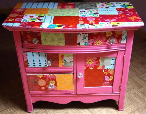 Decoupage Dresser With Fabric - twig and toadstool it s mod podge friday let s