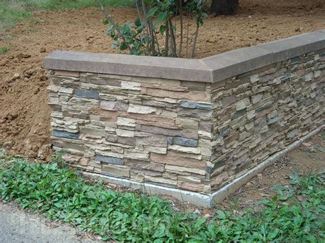 Retaining Wall Design Photos Rock Stone Brick Looks Garden Wall Materials