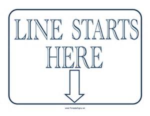 printable line starts here sign sign