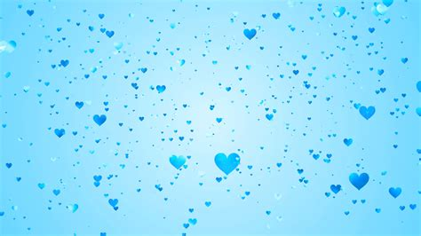 Hundreds of light blue hearts of various shades and sizes ... Blue Heart Background Wallpaper