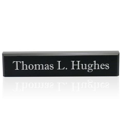 engraved desk name plates personalized black acrylic desk name plate