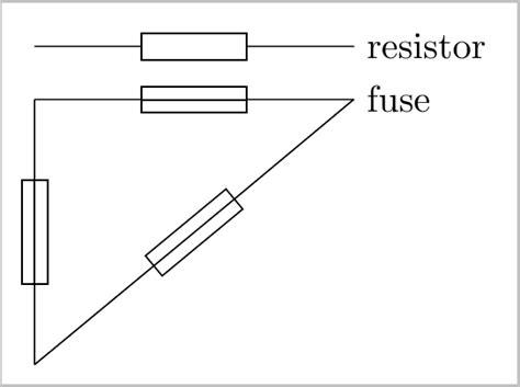 fusible resistor schematic symbol fuse symbol with tikz tex stack exchange