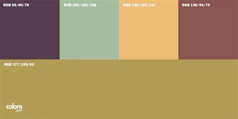 tavole colori per pareti tabella di 5 colori per pareti abbinati tra di loro