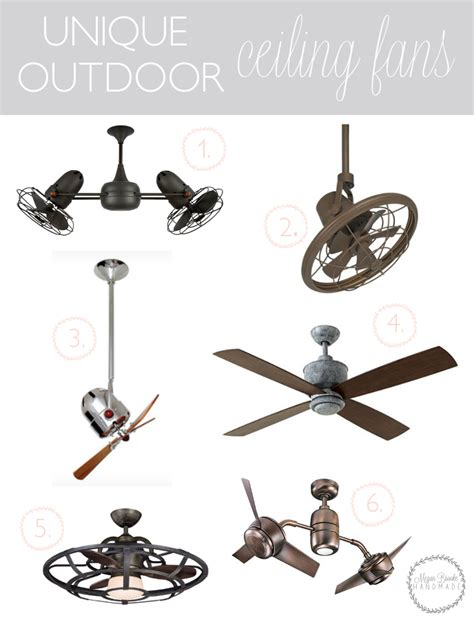really cool ceiling fans unique outdoor ceiling fans megan handmade