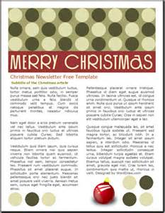 worddraw com free christmas newsletter templates