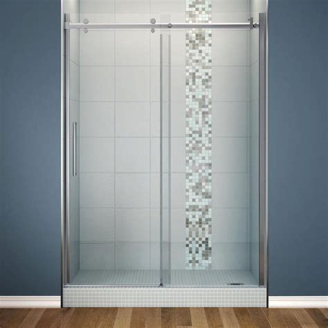 Shower Doors Showers The Home Depot Bathroom Glass Sliding Shower Doors