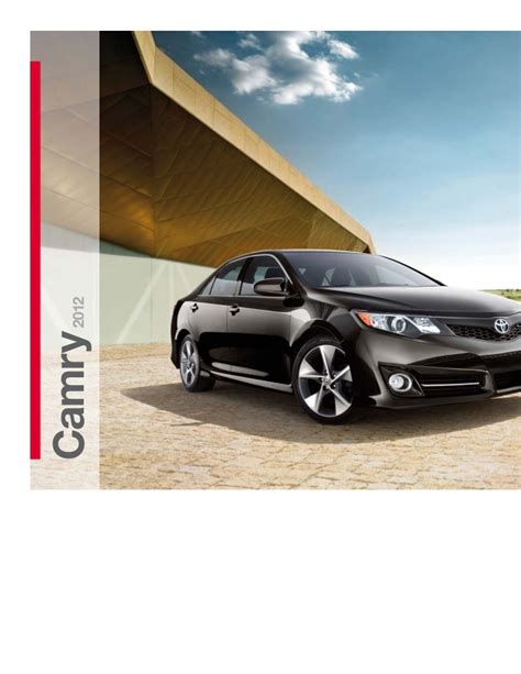 2012 toyota camry brochure in ta florida dealer