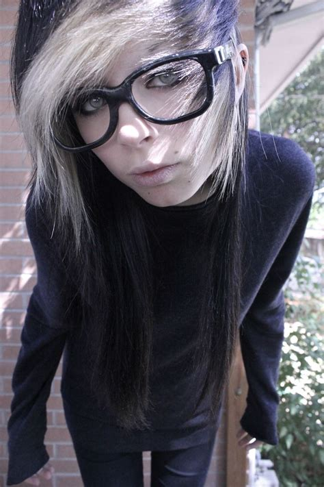 emo hairstyles with glasses 43 best cute emo girls boys with glasses images on