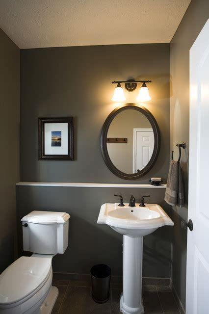 Half Bathroom Paint Ideas Lakeside Remodel Traditional Powder Room Other Metro By By Interiors