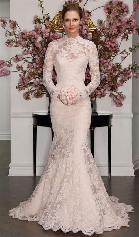turtleneck wedding dresses for modest brides happywedd com