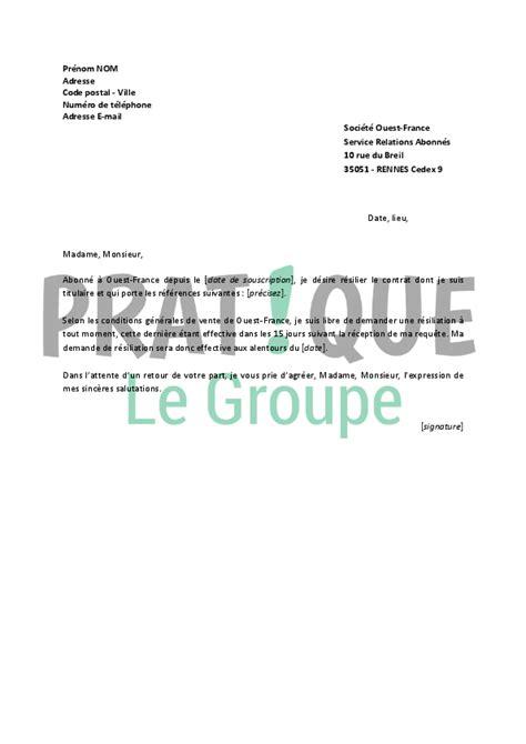 Lettre De Rã Siliation Ouest Lettre De R 233 Siliation Ouest Pratique Fr