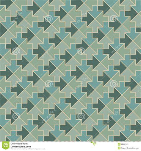 geometric pattern arrow arrows geometric pattern in vintage green colors stock