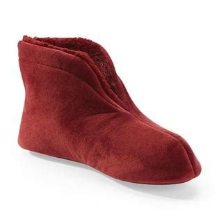 sears slippers for s velour bootie slippers step into plush comfort