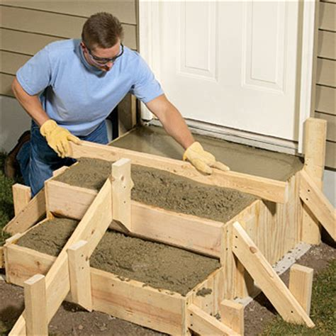 Diy Patio Stairs by Poured Concrete Steps Sand Set Amp Mortared Patios