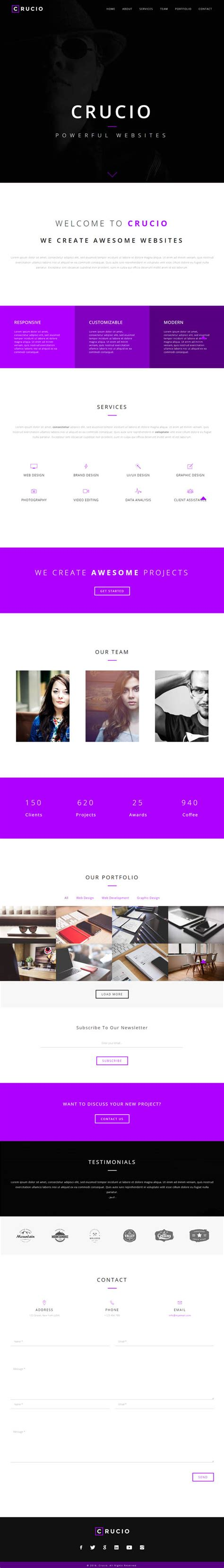 website templates for visual artists 25 fresh creative html5 website templates psd html