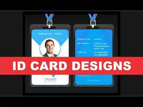 template id card cdr id card design tutorial coreldraw