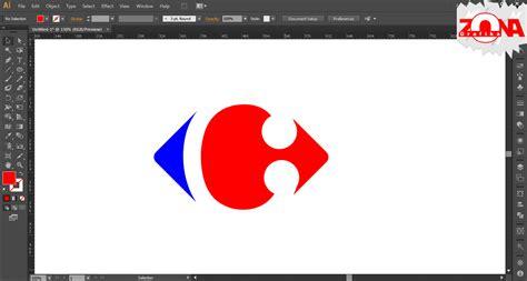 tutorial logo dengan adobe illustrator cara membuat logo carrefour dengan adobe illustrator cs6