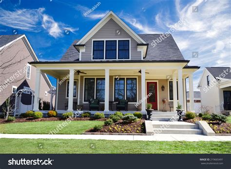 custom dream house reviews brand new custom dream home huge stock photo 219665491