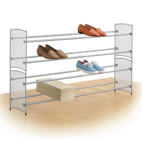 lynk expandable stackable 2 tier shoe rack reviews wayfair