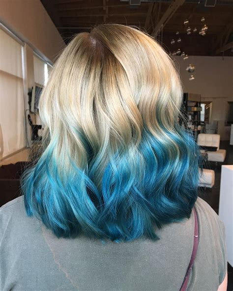colorful ombre blue colorful ombre hair