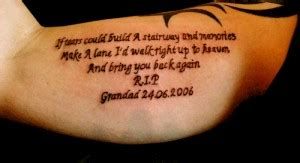 grandpa tattoo quotes rip grandma tattoo quotes quotesgram