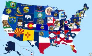 us flag on map flags of the us states land of maps
