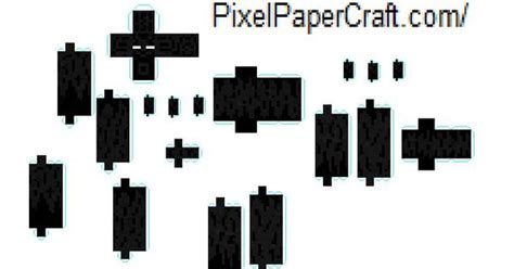 How To Make A Paper Enderman - minecraft papercraft mutant enderman papercraft