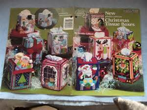 Plastic canvas pattern christmas tissue boxes by granstreasures