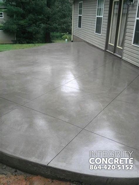 gray concrete patio with pattern traditional