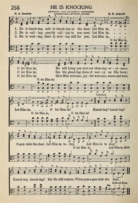 Knock At The Door Song by He Is Knocking Softly Knocking At The Door Hymnary Org