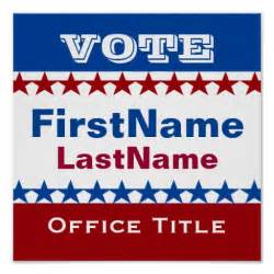 Election Poster Template by Custom Caign Template Poster Zazzle