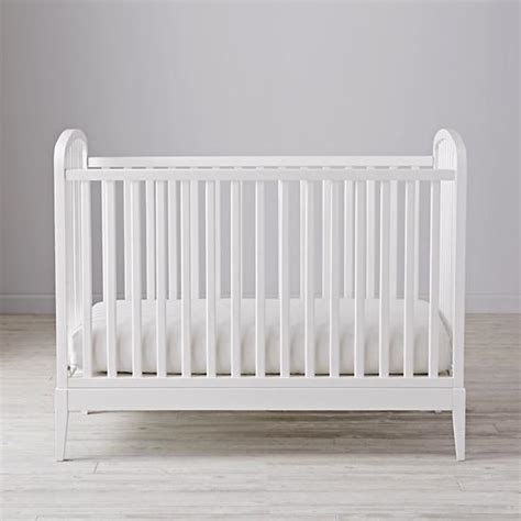 White And Wood Crib Archway Crib White The Land Of Nod