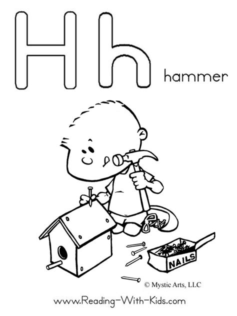 letter h coloring pages for toddlers alphabet coloring pages