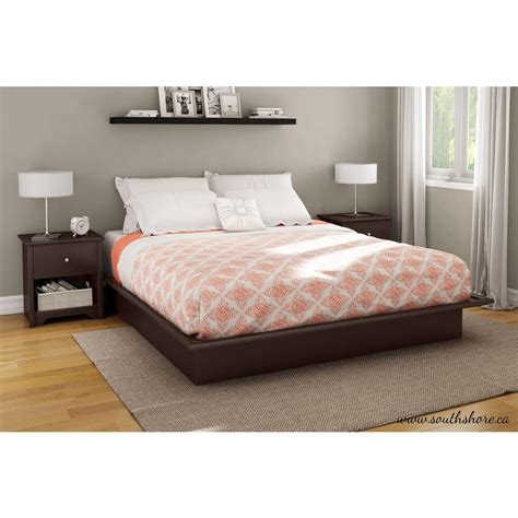 Bed Guhdo King Size south shore step one king size platform bed in chocolate
