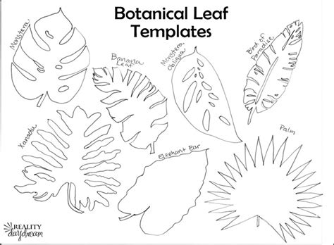 banana leaf template diy botanical trivets with free scroll saw patterns