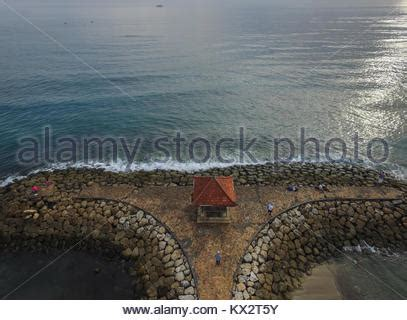 sanur beach aerial view bali indonesia stock photo
