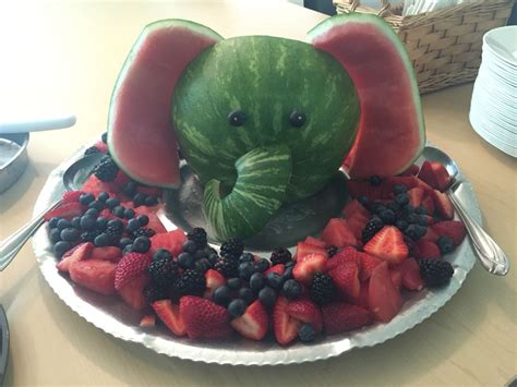Baby Shower Fruit Tray by Watermelon Elephant Fruit Tray This Was Made For A Baby