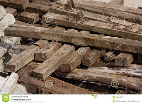 Sleepers Free by Wooden Sleepers Royalty Free Stock Photography Image