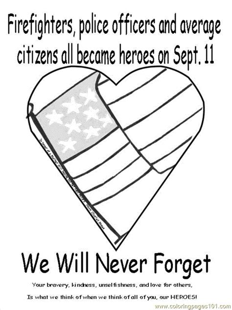 Coloring Page For 9 11 by Free Coloring Pages Of September 11th