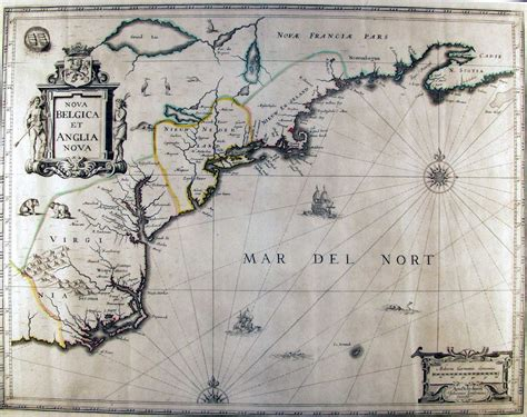 netherlands coast map early american colonies on the east coast in the