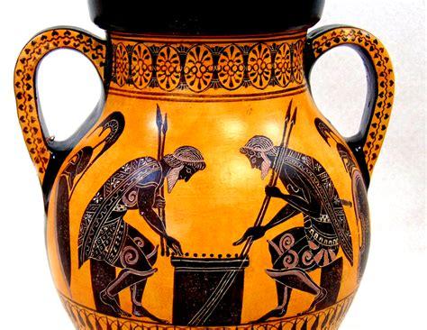 Ancient Chess Set greek pottery black figured pottery black figured