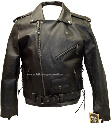 motorcycle style leather men s motorcycle cowhide classic m c jacket lace police